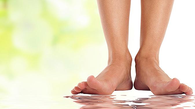 Женские стопы в масле фото