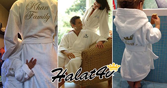 Махровые халаты с именной вышивкой спб